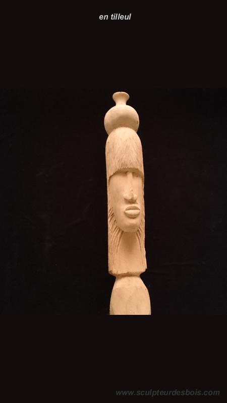 Sculpture en bois de tilleul