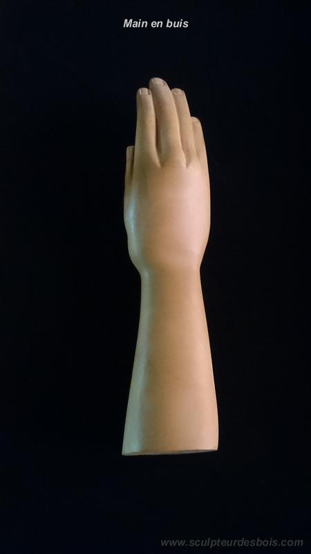 Ma main en buis, grandeur nature